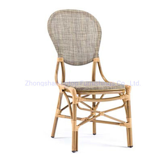 (SP-OC372) Unique Round Back Bamboo Rattan Outdoor Chair for Restaurant pictures & photos
