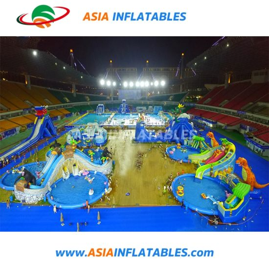 Outdoor Amusement Inflatable Land Water Park Playground with Slide and Pool pictures & photos