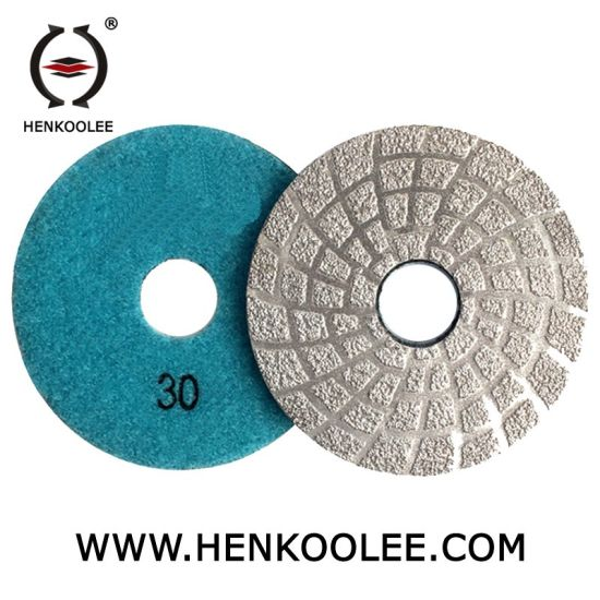 Metal Diamond Electroplated Hook and Loop Fastener Polishing Pads pictures & photos