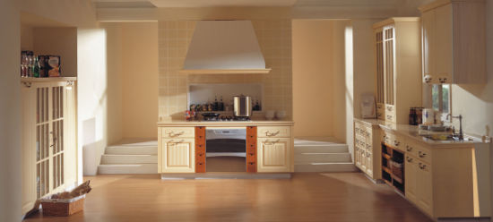 Antique Luxury Kitchen Cabinet Solid Wooden Kitchen Furniture
