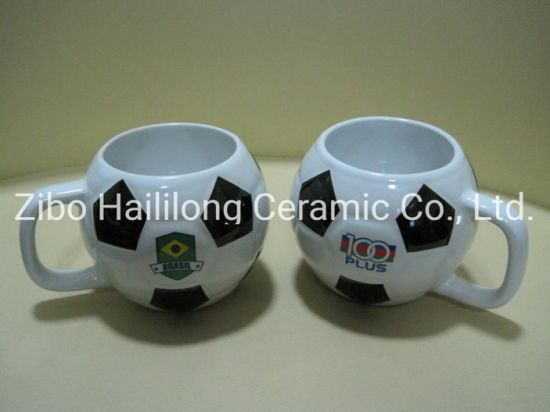 Stonewre Football Mug Ceramic Football Cup with Logo