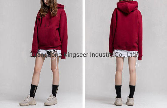 High Quality 100%Cotton Wholesale Women Custom Brand Clothes Overized/Pullover Hoodies