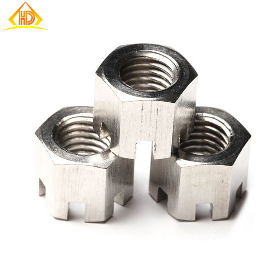 M5 M6 M8 M10 M12 M16 A2 Stainless Steel Castle Nuts Slotted Nut DIN935 Metric