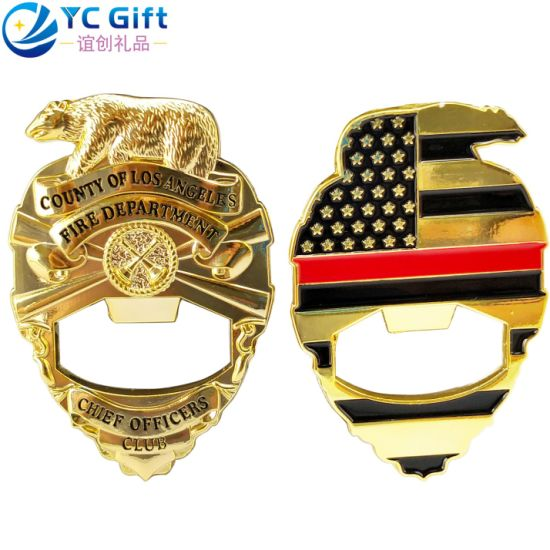 Wholesale Factory Custom Us Flag Eagle Military Beer Bottle Opener 3D Logo Plating Gold Metal Crafts Army Police Emblem Corporate Promotional Gift Button Badge