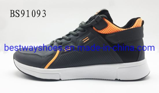 Sport Style Leather Oxford Fabric Rubber Sole Casual Shoes pictures & photos