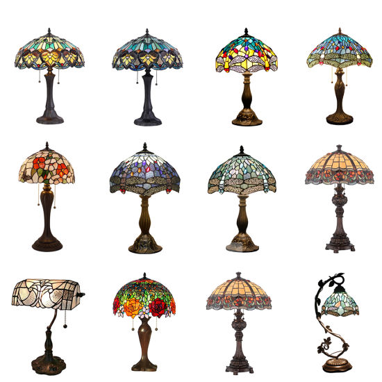 High Quality Antique Stained Glass Tiffany Table Lamp pictures & photos