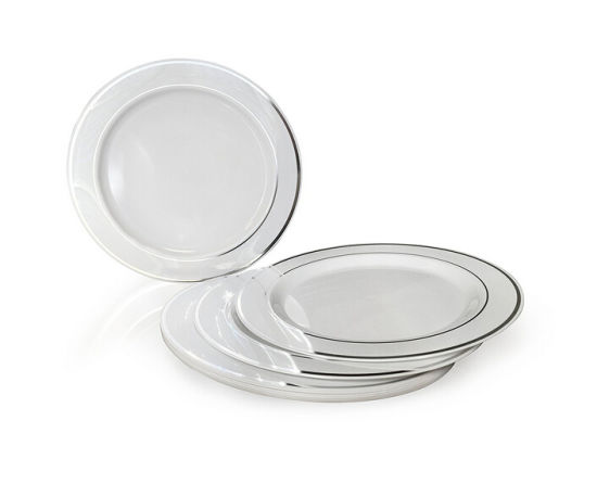 Silver Line Plastic Plates Premium Heavyweight Plastic Wedding Like China  sc 1 st  Shuangtong Daily Necessities Co. Ltd. YW : heavyweight plastic plates - Pezcame.Com