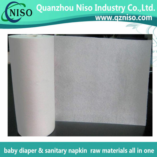 Soft Sanitary Pad Raw Materials Airlaid Paper with Ce (HY-069)