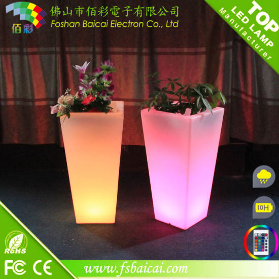 Waterproof outdoor Colorful LED Flower Pot