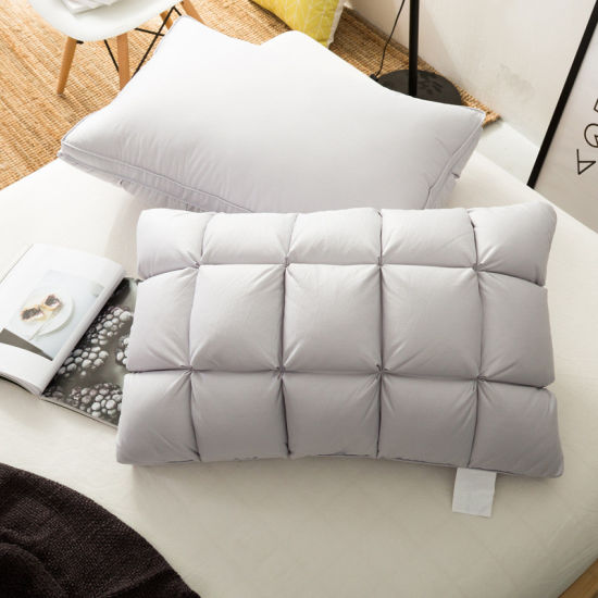 Hot Selling White Duck Down Pillow Traditional Bread Pillow for Home and Hotel