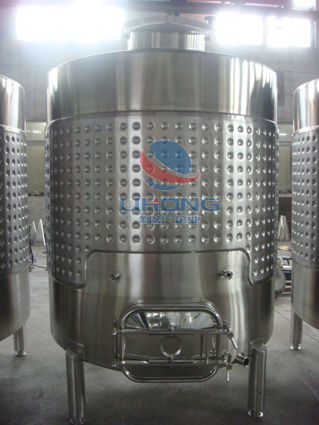 Stainless Steel Cooling Jacket Wine Storage Vessel with Side Manhole
