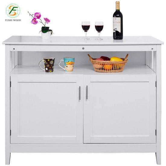 2019 Sideboard Dining Wood White Modern Kitchen Storage ...