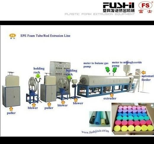 Fushi New Plastic PE Foam Tube/Pipe/Rod Extrusion Machine Line