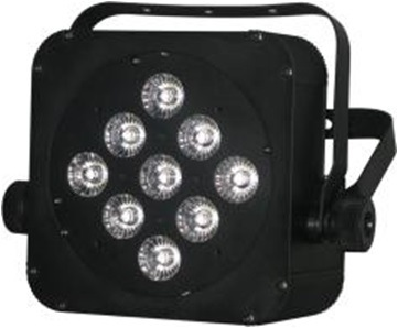 9*15W RGBWA 5in1 Multi-Color LED Plat PAR Light with Battery 5-6hours