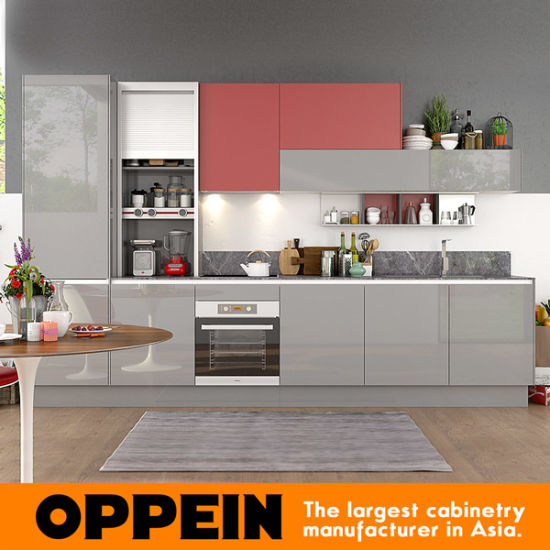 360cm Width Standard Kitchen Cabinet With Lacquer Finish (OP17 L02)