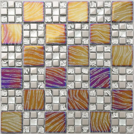 Top Quality of Glass Mosaic Tile with Saso (XZP36-1) pictures & photos