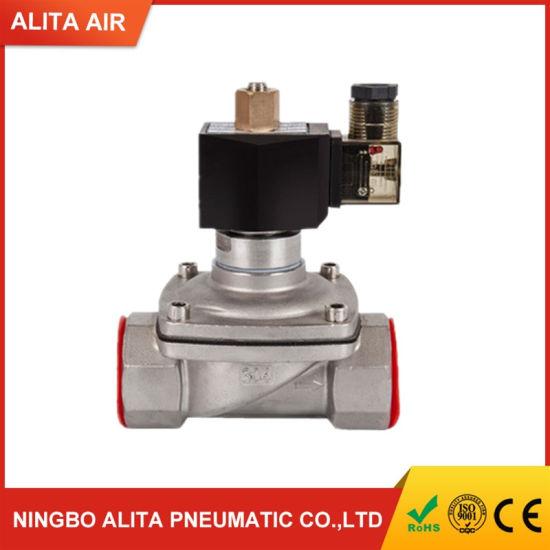 Stainless Steel Refrigeration Bistable Gas Solenoid Valve for Welding Machine