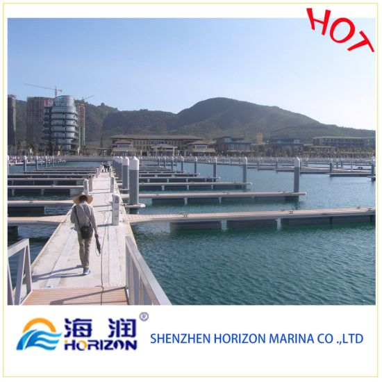 Hot Sale Pile Cap Floating Dock in China pictures & photos
