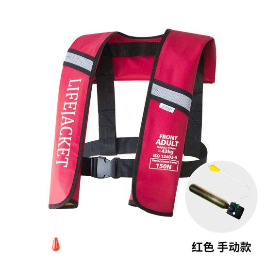 Automatic Inflatable Top Rescue Vest 150n Buoyancy Kayak Women/Man Life Jacket
