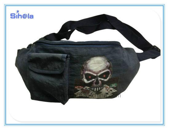 Washed Nylon Skull Design Leisure Multi-Functional Sports Fanny Pack Travel Bumbag