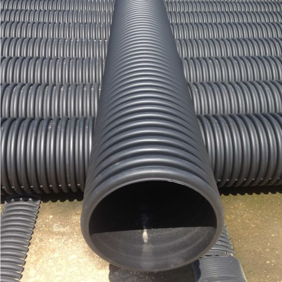PE Double Wall Corrugated Drainage Pipe for Underground Sewer