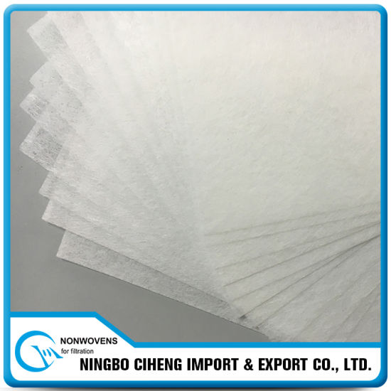 China Manufacturer Wet Laid Pleated Pet Polyester Nonwoven Fabric
