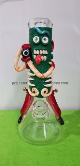 Newest Fashion 3D Hand Draw on Glass Smoking Water Pipe