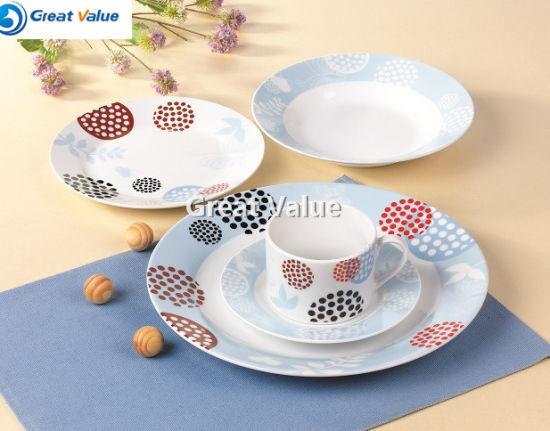 Personalized Por New Design Top Quality 20pcs Ceramic Dinner Set