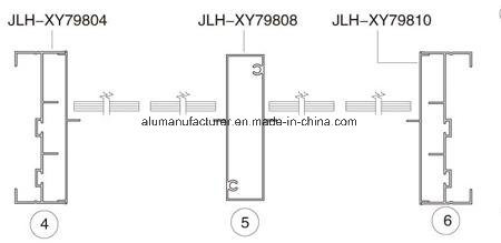 Jlh-Xy798 Series Sash Aluminium Alloy Extrusion Profile for Door and Window pictures & photos