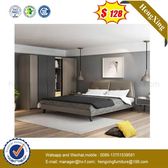 China Grey Color Modern Eco Friendly Bedroom Furniture
