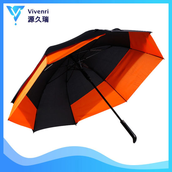 New Arrival Fashion Advertising Colour Matching Straight Rain Telescopic Golf Umbrella with New Design Custom Promotion Gift