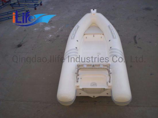 Ilife 4.8m Factory Wholesale - PVC Material Fishing Boat Rigid Hull Fiberglass Inflatable Boat
