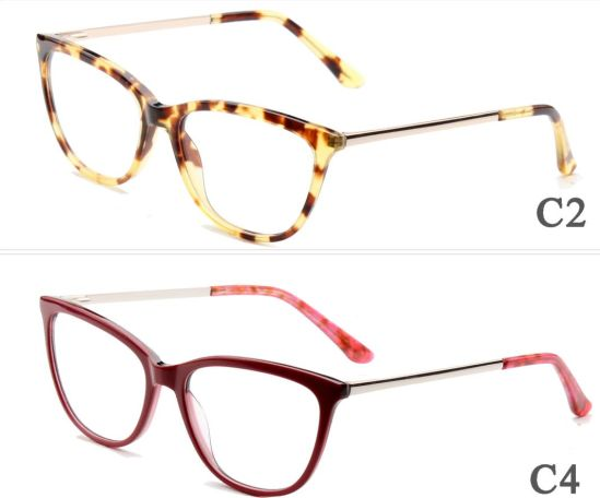 China Online Trend 2018 New Model Ready Stock Acetate Metal Optical ...