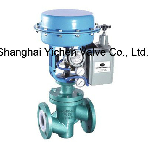 Pneumatic Fluorine Lined Single Seat Control Valve pictures & photos