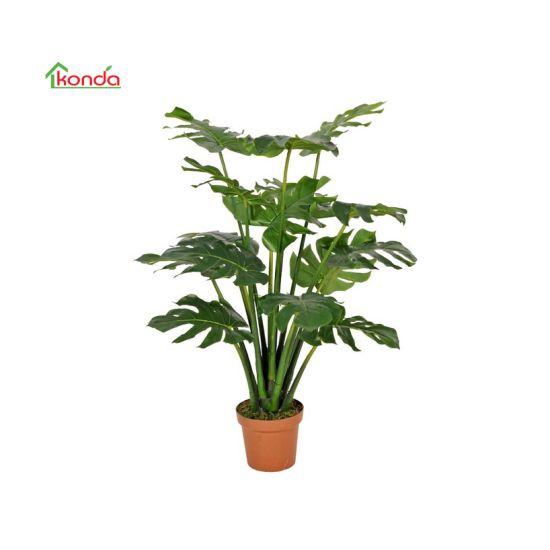 Factory Wholesale Indoor Decoration Stomium Tree Artificial Monstera Plant