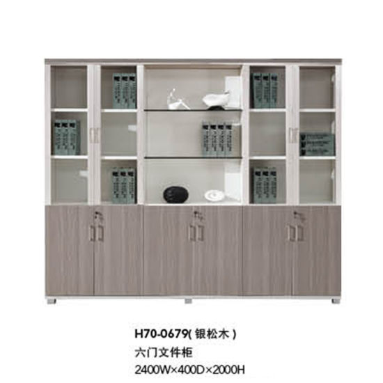 Modern Office Furniture Wooden Filing Cabinet With Gl Doors H70 0679