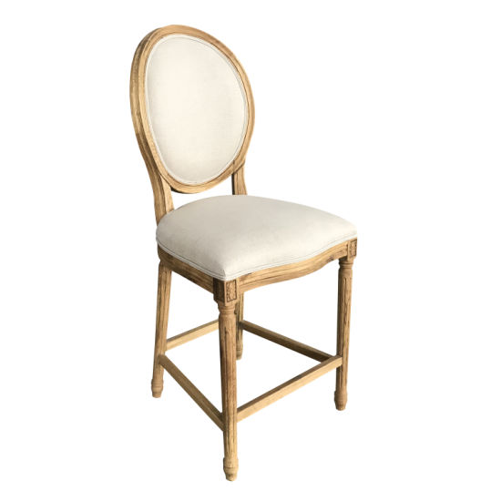 Swell High Round Back Louis Xvi Chair Antique Furniture Wooden Bar Stool Dailytribune Chair Design For Home Dailytribuneorg