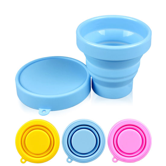 Foldable Unbreakable Silicone Drinking/Coffee Case /Cup with Lid/Sleeve