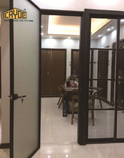 China Soundproof Glass Entry Dooraluminium Casement Doorimpact