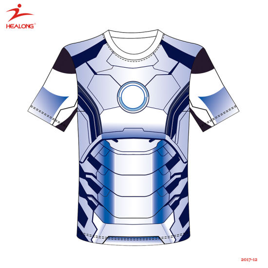 f84b11c211 Healong Hot Sale Teamwear 3D Style Sublimation Men T-Shirt