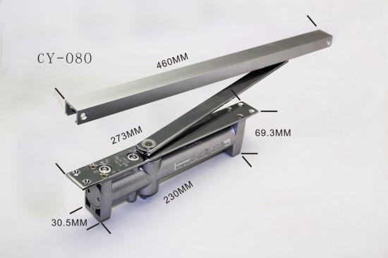 Aluminum Door Accessories Adjustable Hide Concealed Overhead Door Closer