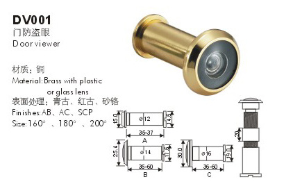 Hot Sale New Product 304 Stainless Steel Door Viewer (HD-DV001) pictures & photos