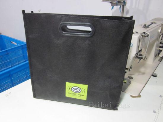Die Cut Handle Reinforced Carrier Bags PP Non Woven Bag (hbnb-536)