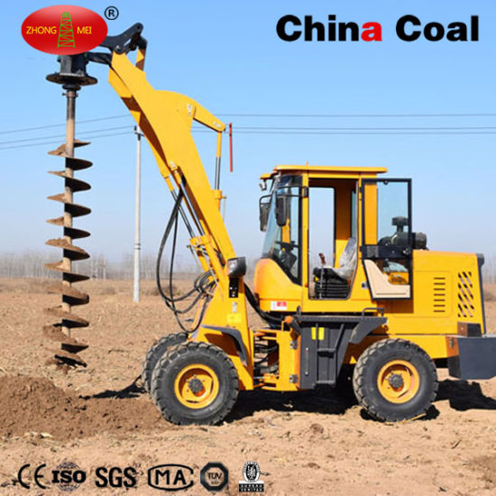 Excavator Mounted Earth Auger Drill Pole Hole Digging Machine pictures & photos