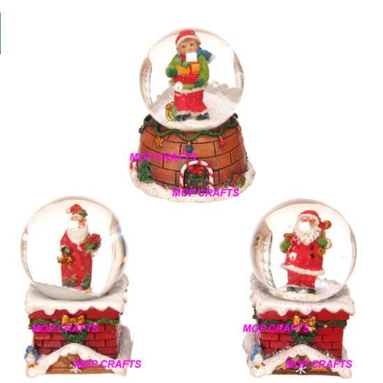 Polyresin Christmas Gifts in Santa Claus Snow Globe Crafts