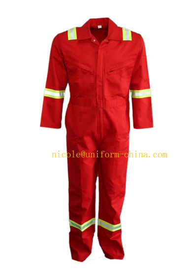 Npfa 2112 Red Fire Protection Arc Flash Electrical Safety Unlined Coverall Suit for Welding