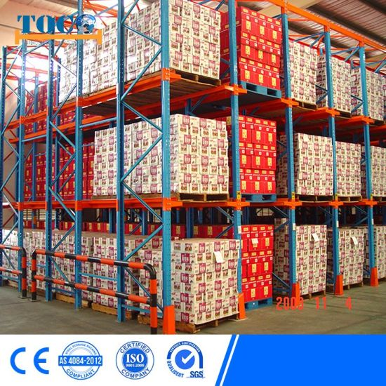 High Densidty Drive in Rack for Food Storage Fifo