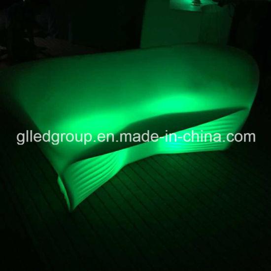 Plastic Outdoor Sofa Lit Up Led Furniture