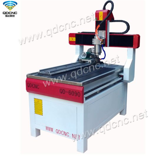 600*900mm High Quality Rotary Axis CNC Router with Powerful Stepper Motor Qd-6090r pictures & photos