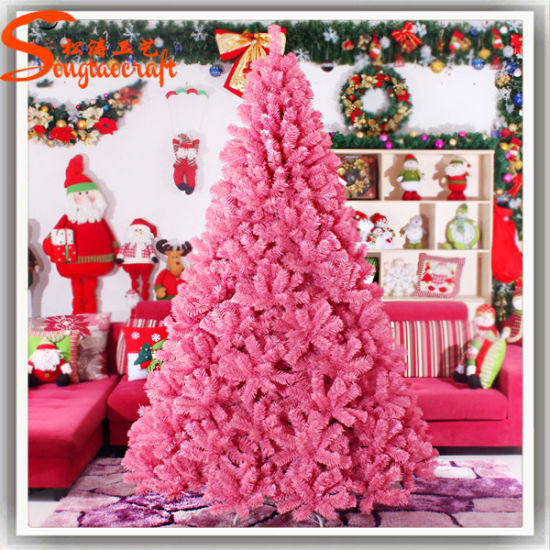 Pink Artificial Christmas Tree.Best Selling Decoration Artificial Led Pink Christmas Tree